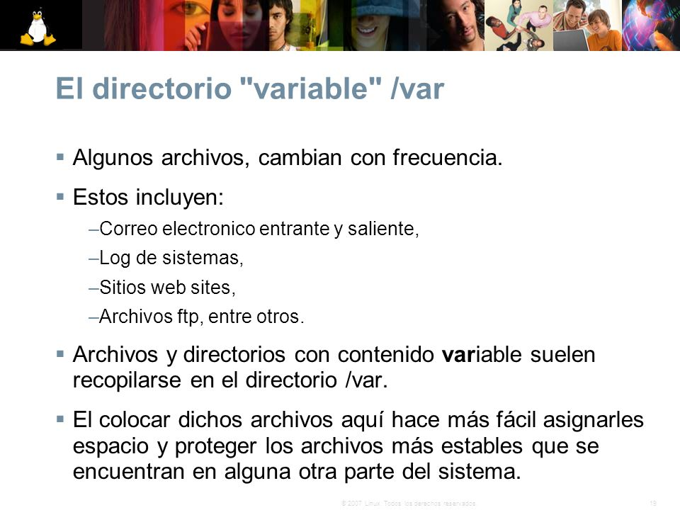 El directorio variable /var