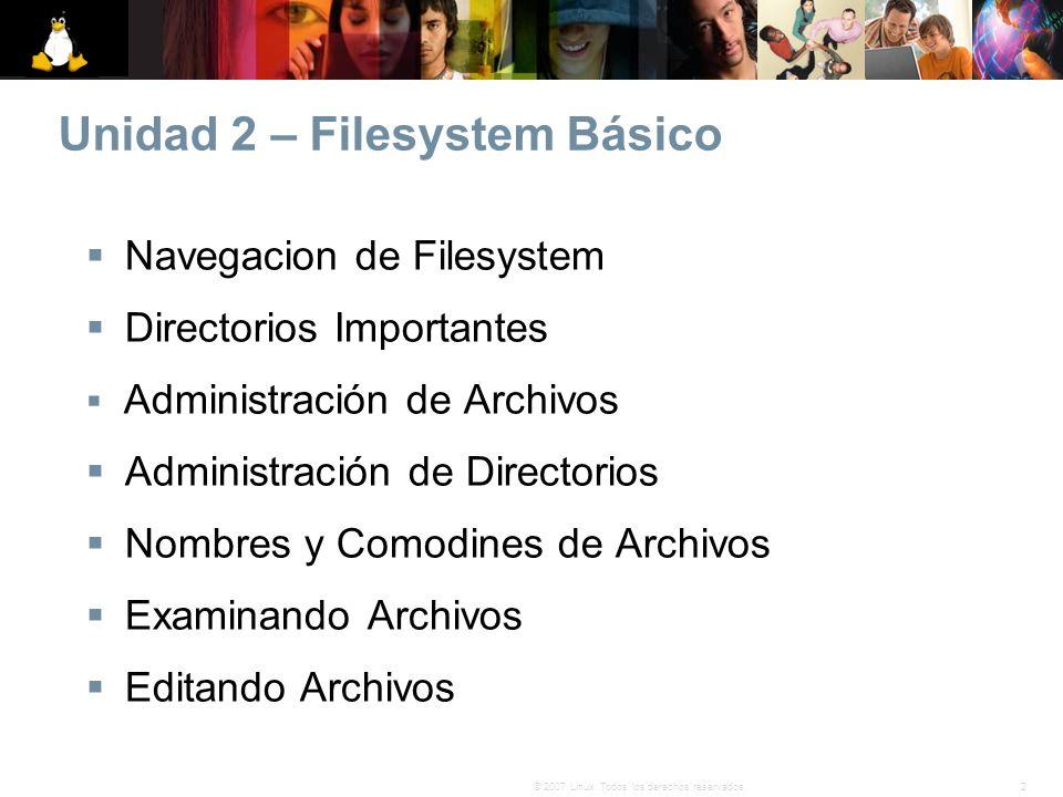 Unidad 2 – Filesystem Básico