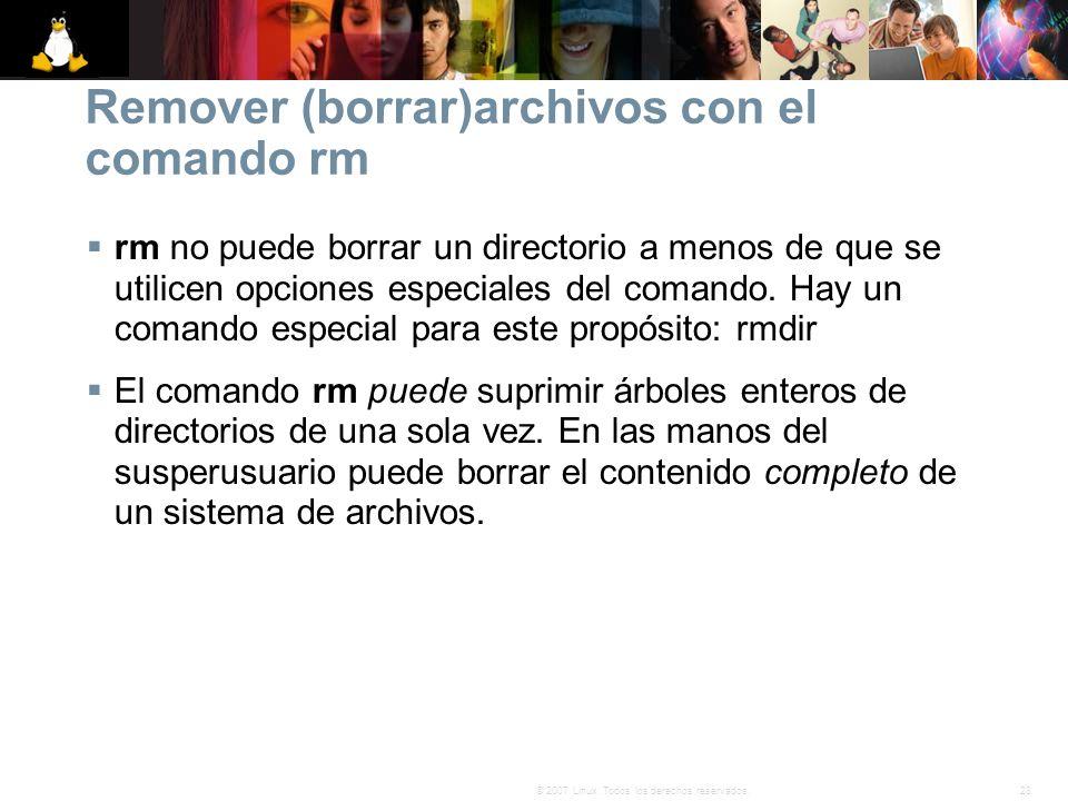 Remover (borrar)archivos con el comando rm