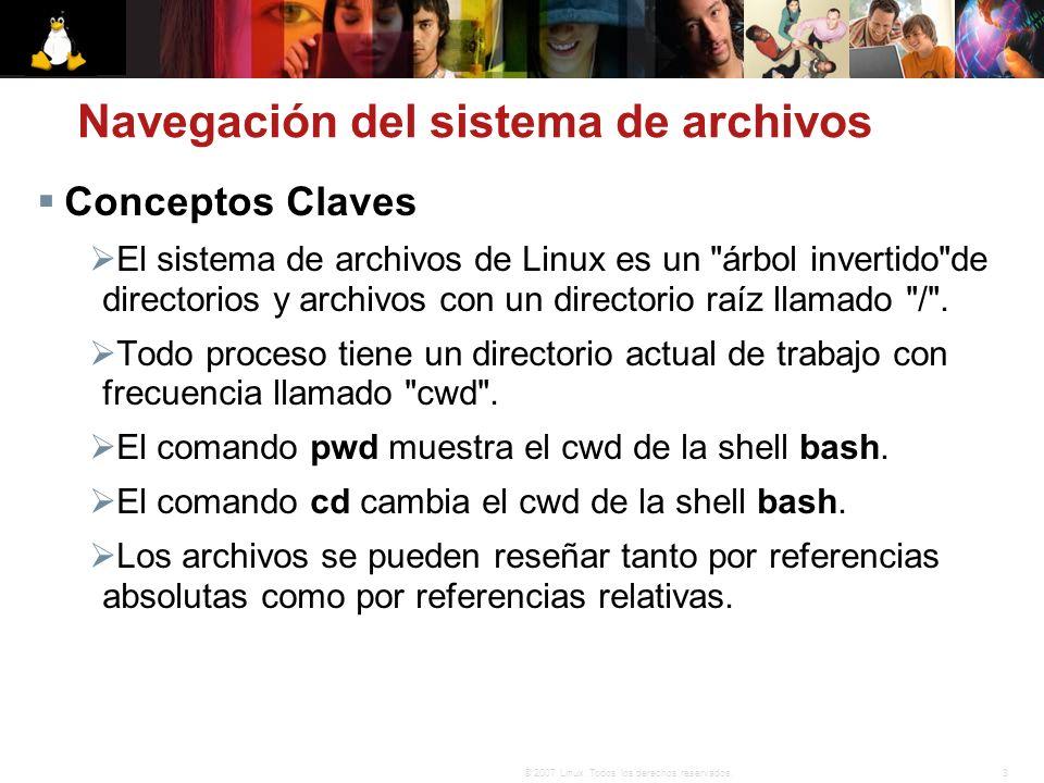 Navegación del sistema de archivos