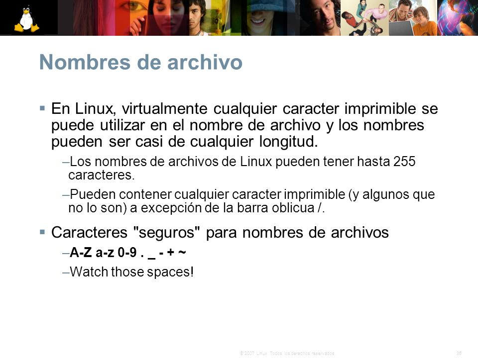 Nombres de archivo