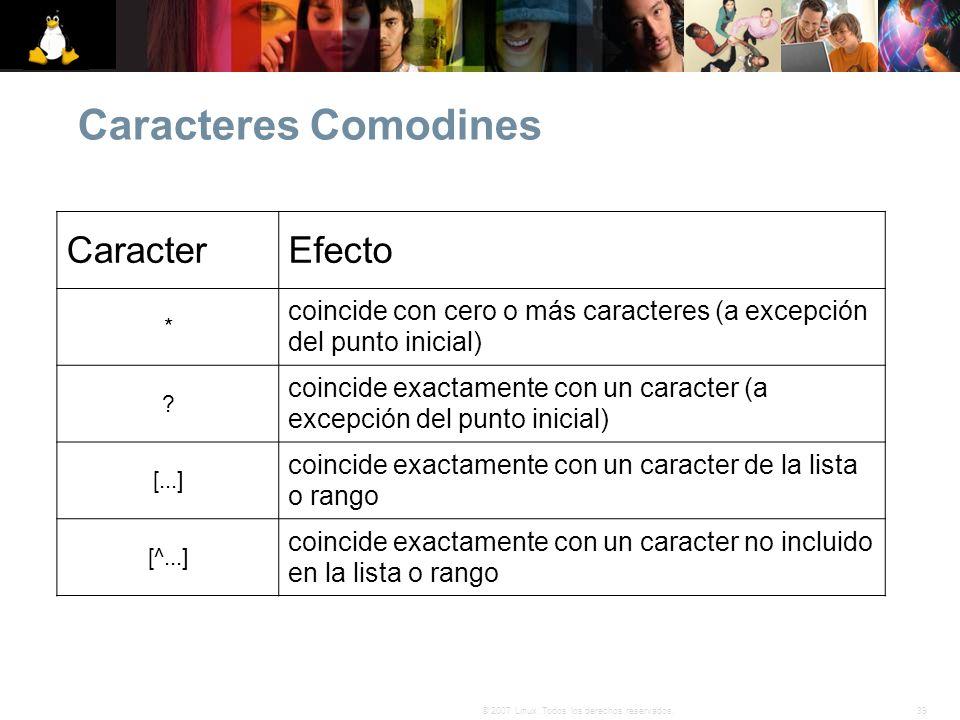 Caracteres Comodines Caracter Efecto