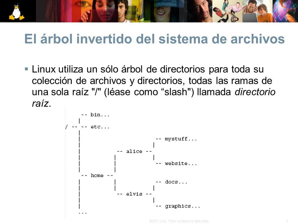 El árbol invertido del sistema de archivos