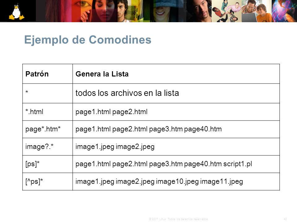 Ejemplo de Comodines todos los archivos en la lista Patrón