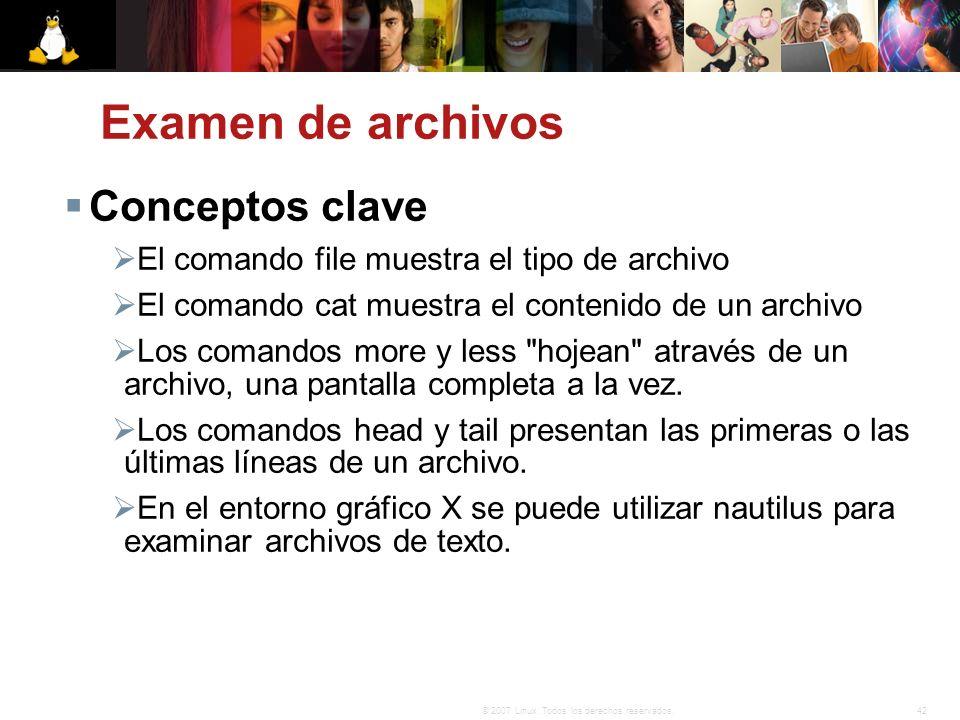Examen de archivos Conceptos clave