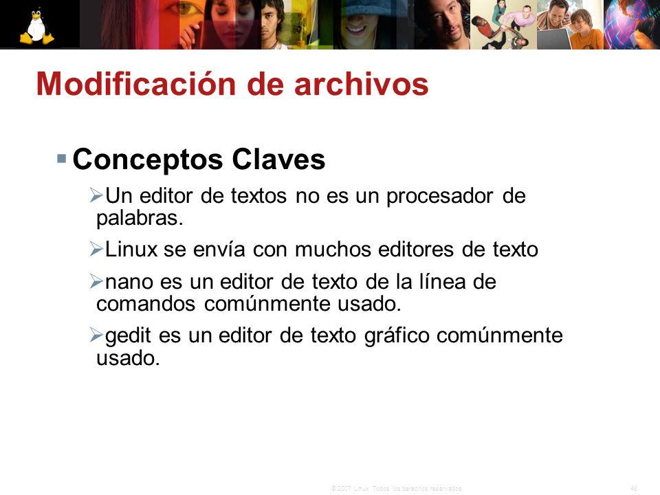 Modificación de archivos