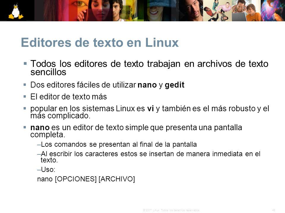 Editores de texto en Linux
