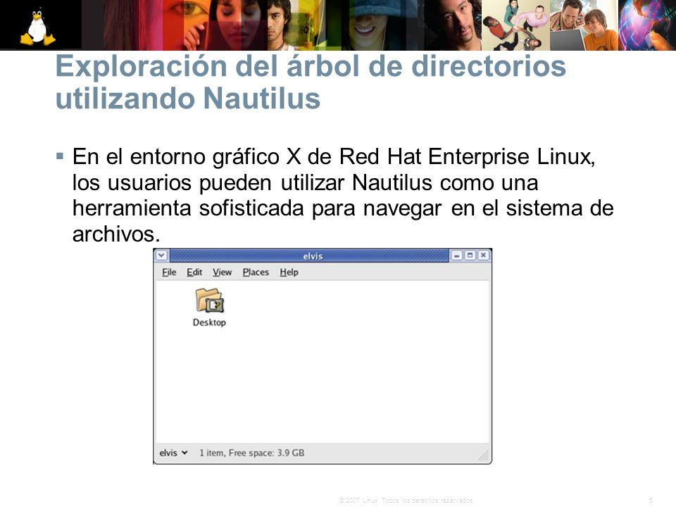 Exploración del árbol de directorios utilizando Nautilus