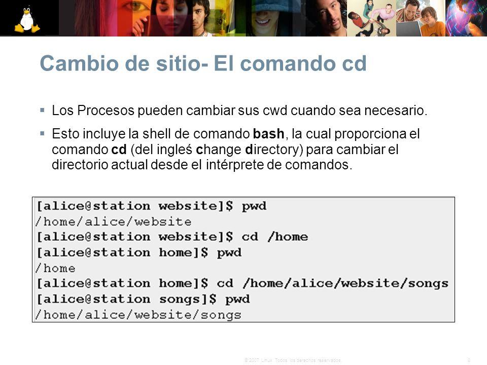 Cambio de sitio- El comando cd