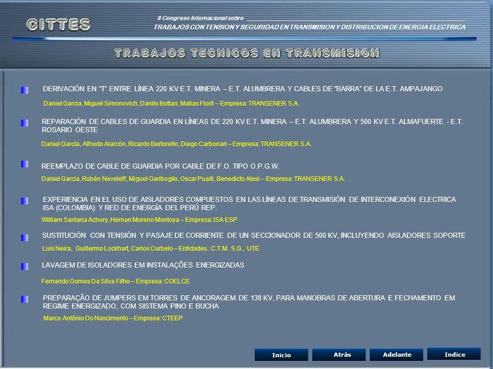 REEMPLAZO DE CABLE DE GUARDIA POR CABLE DE F.O. TIPO O.P.G.W.