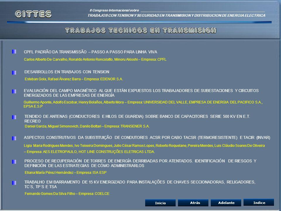 CPFL PADRÃO DA TRANSMISSÃO – PASSO A PASSO PARA LINHA VIVA