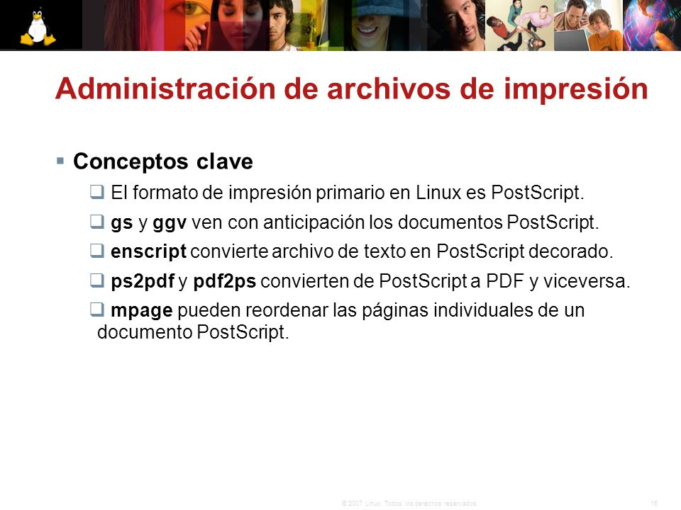 Administración de archivos de impresión