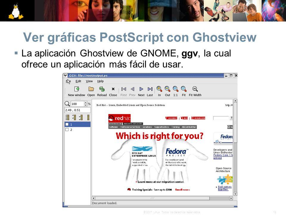 Ver gráficas PostScript con Ghostview