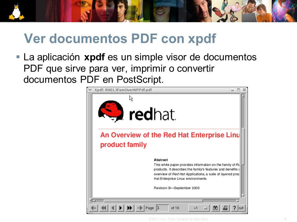 Ver documentos PDF con xpdf