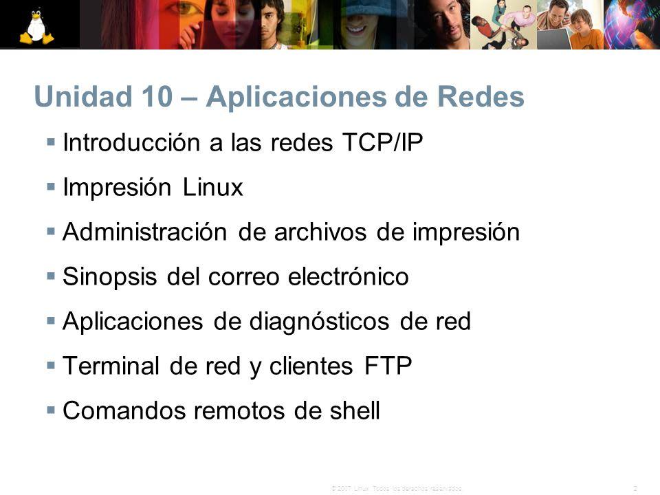 Unidad 10 – Aplicaciones de Redes