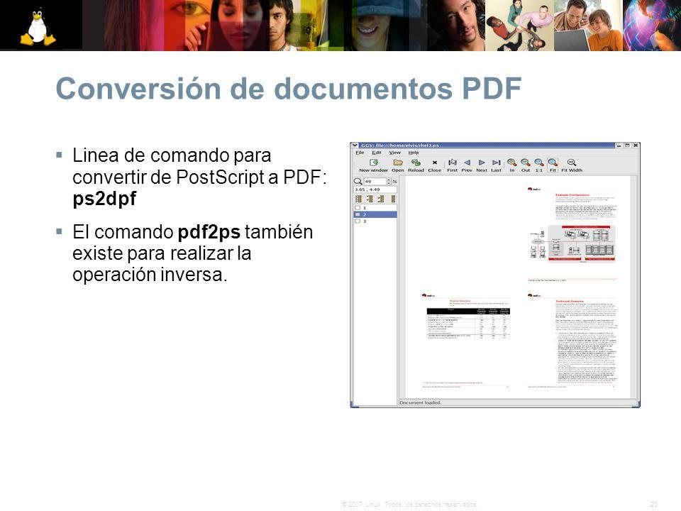 Conversión de documentos PDF