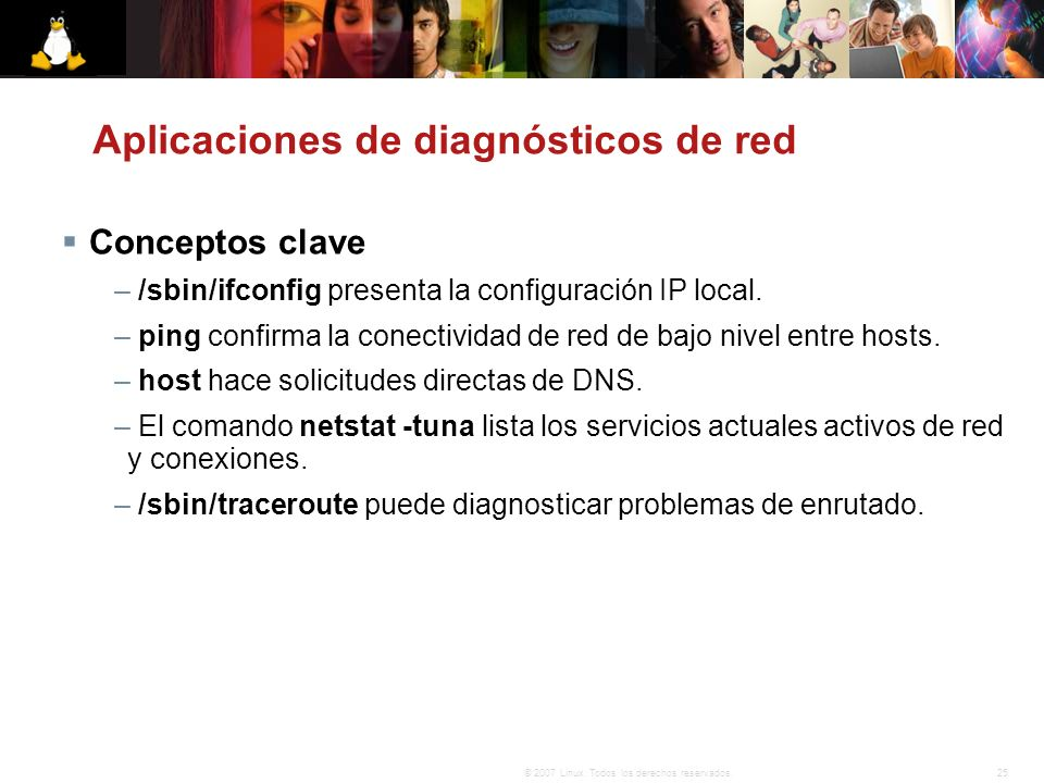 Aplicaciones de diagnósticos de red