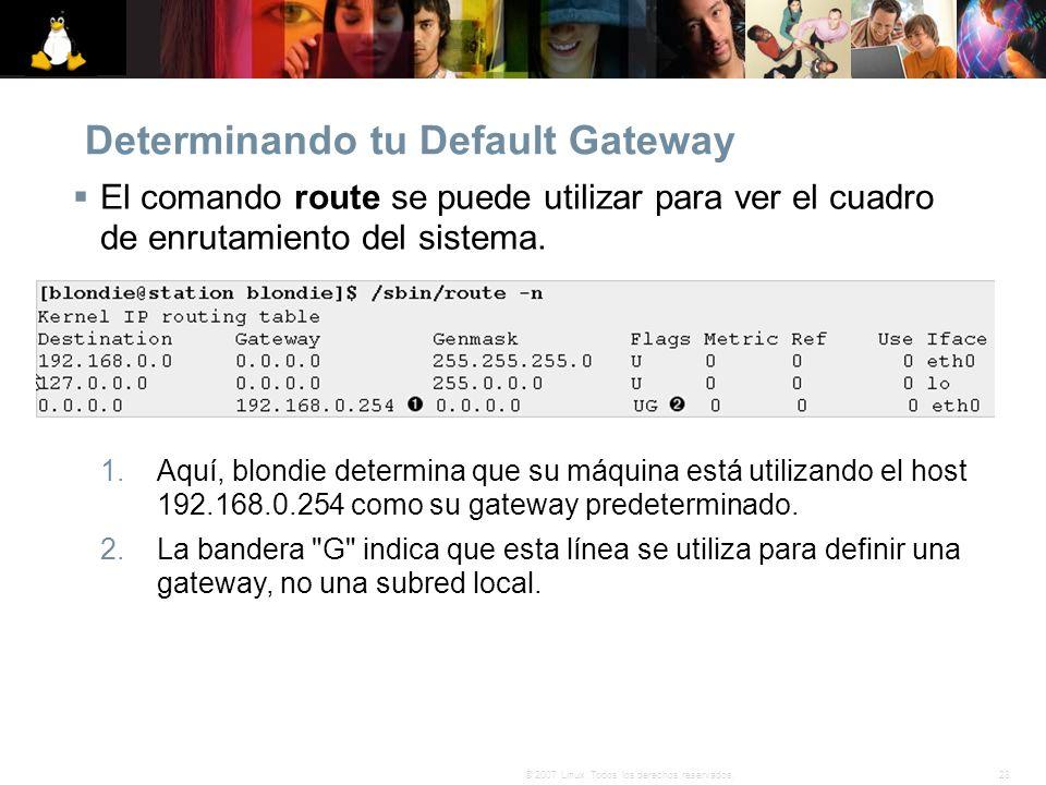 Determinando tu Default Gateway