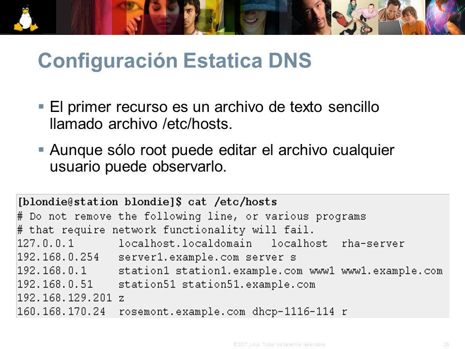 Configuración Estatica DNS