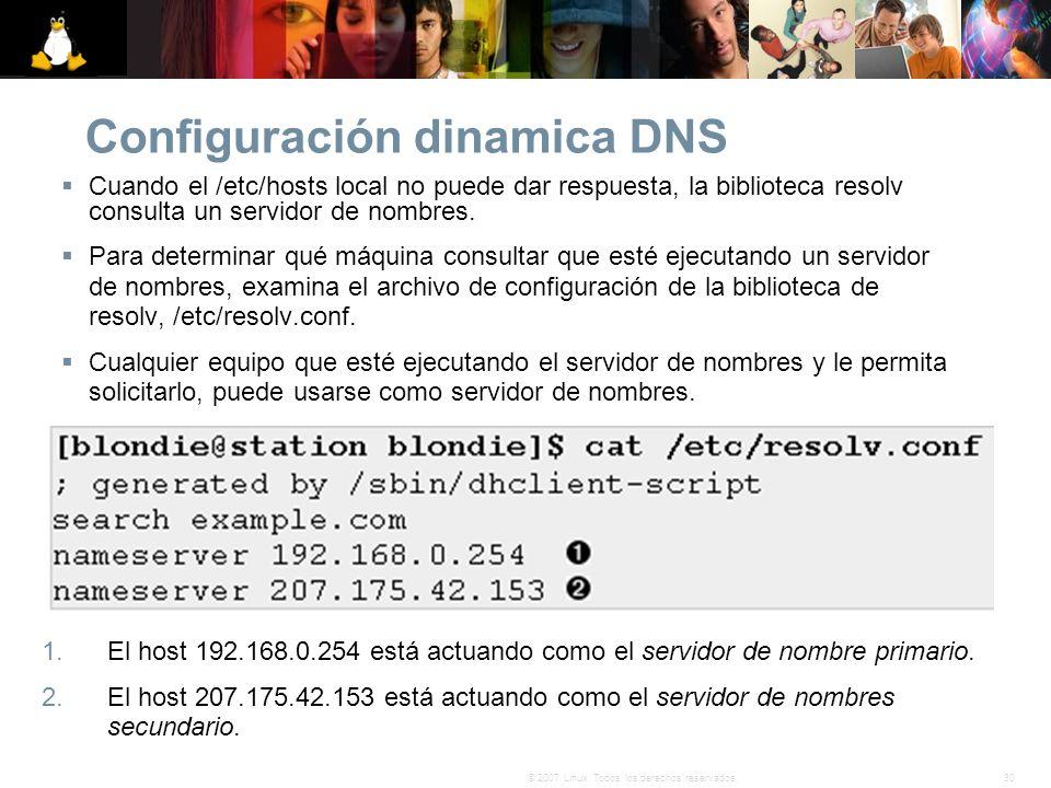 Configuración dinamica DNS