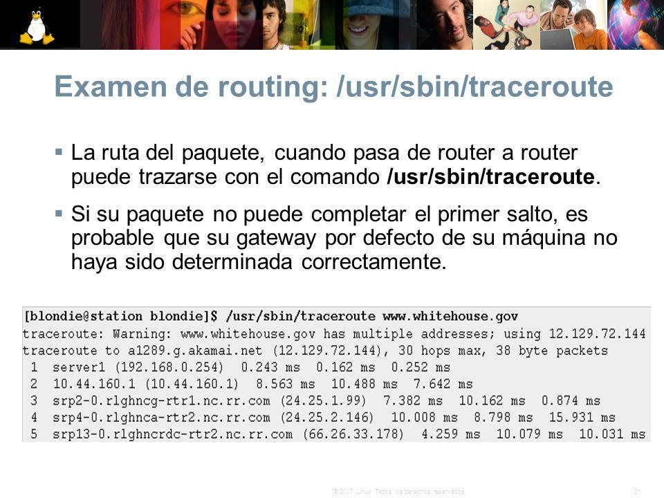 Examen de routing: /usr/sbin/traceroute