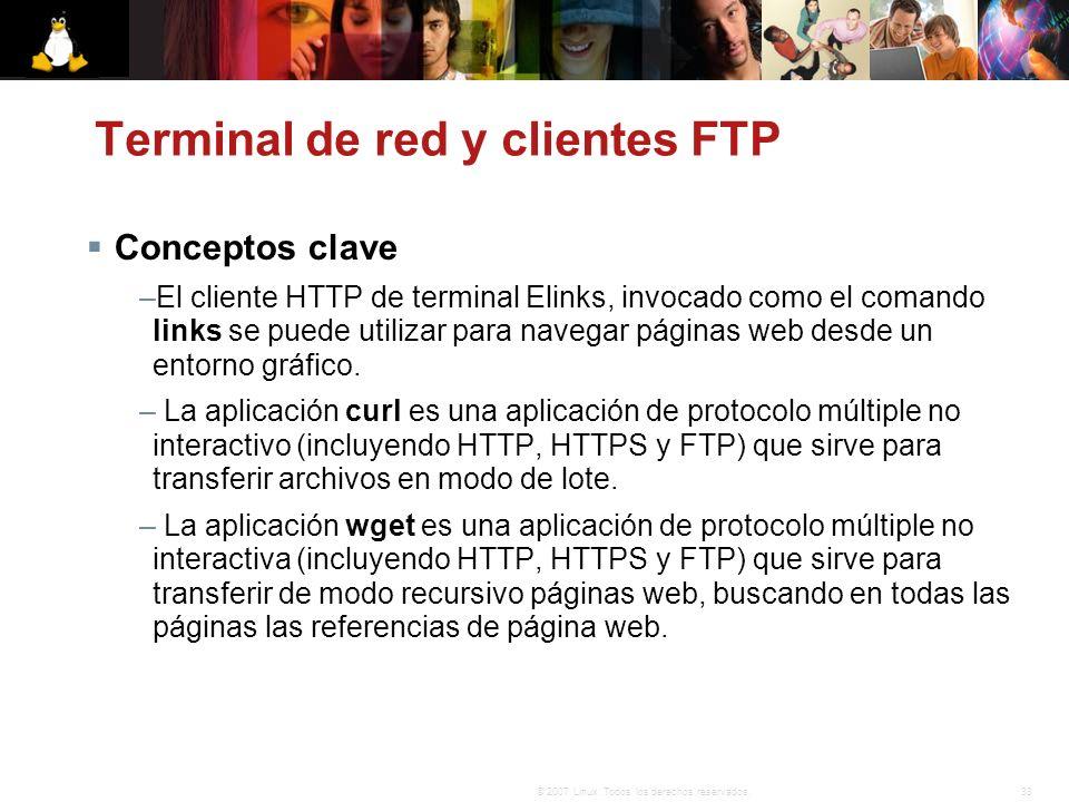 Terminal de red y clientes FTP