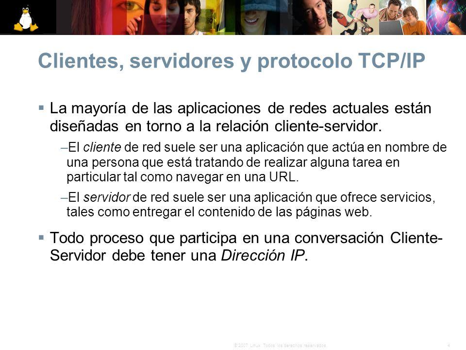 Clientes, servidores y protocolo TCP/IP