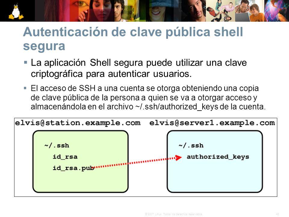 Autenticación de clave pública shell segura