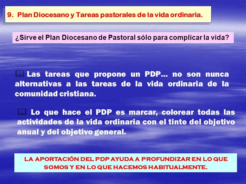 9. Plan Diocesano y Tareas pastorales de la vida ordinaria.