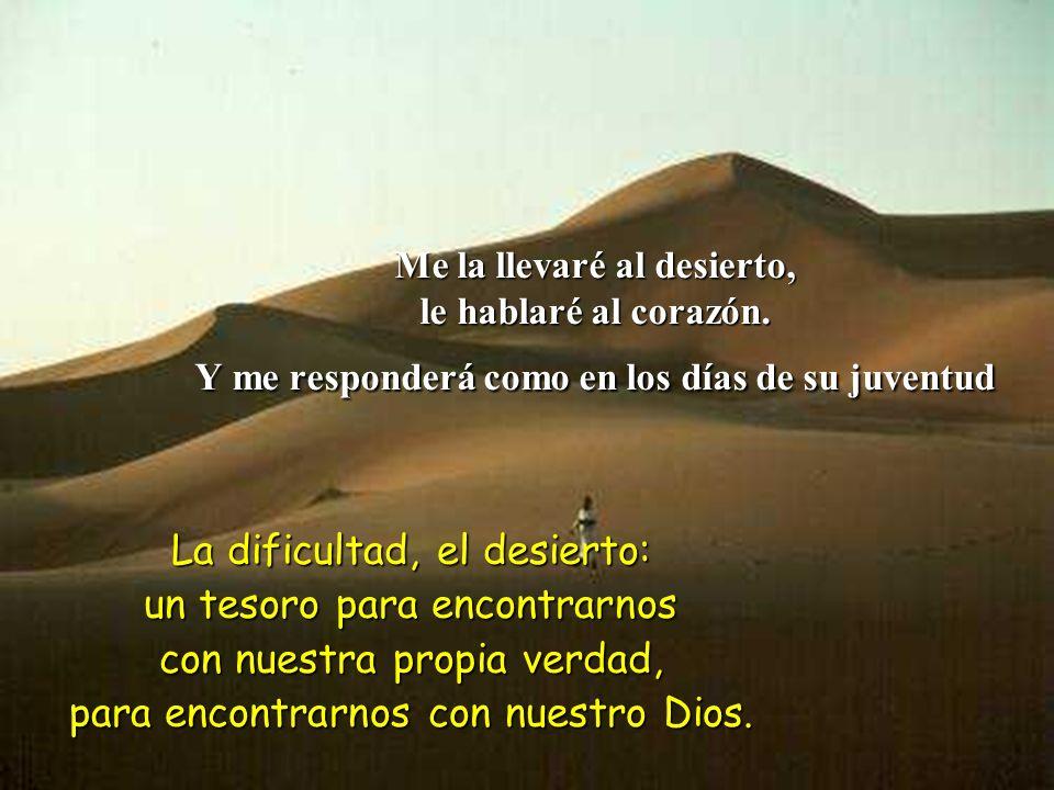 La dificultad, el desierto: un tesoro para encontrarnos