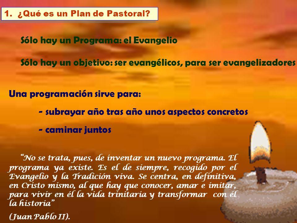 Sólo hay un Programa: el Evangelio