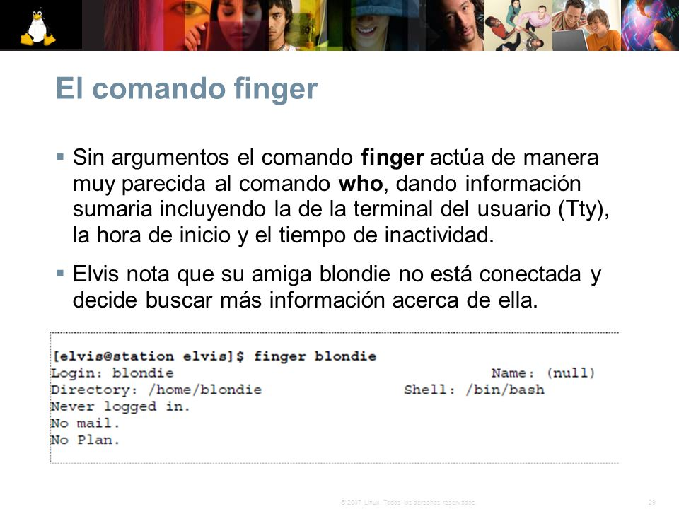 El comando finger