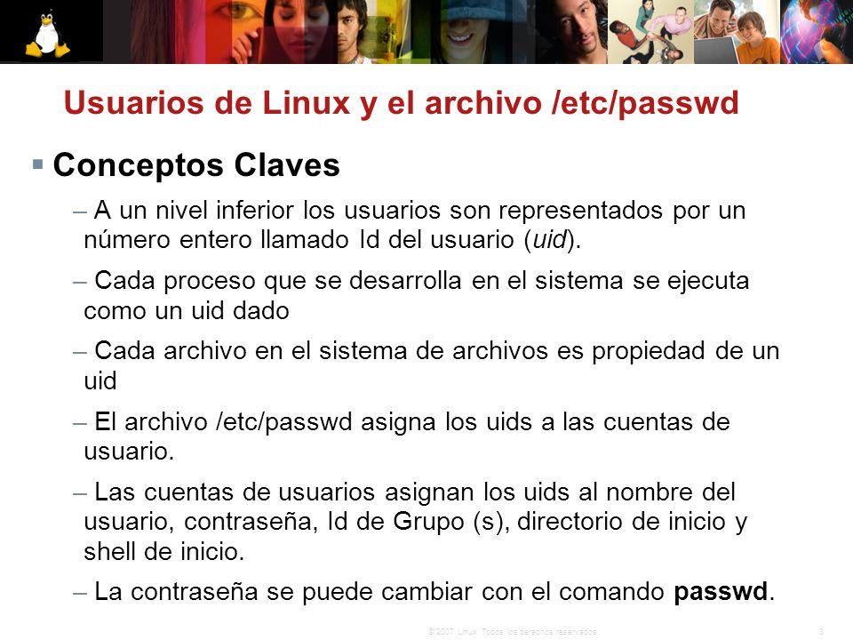 Usuarios de Linux y el archivo /etc/passwd