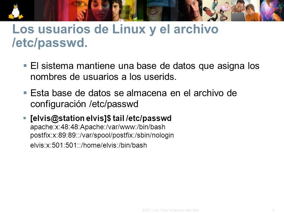 Los usuarios de Linux y el archivo /etc/passwd.