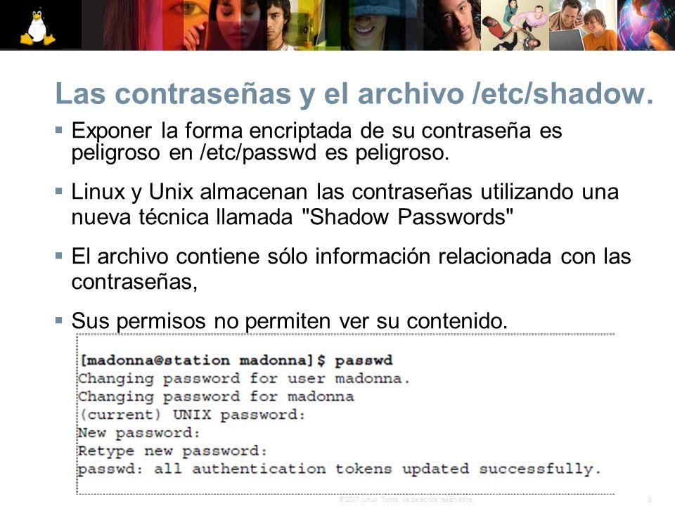 Las contraseñas y el archivo /etc/shadow.