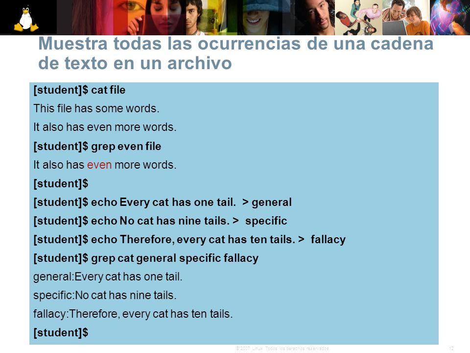 Muestra todas las ocurrencias de una cadena de texto en un archivo