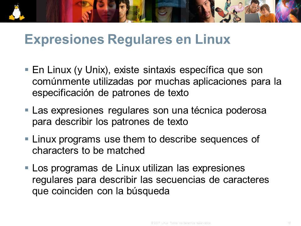 Expresiones Regulares en Linux
