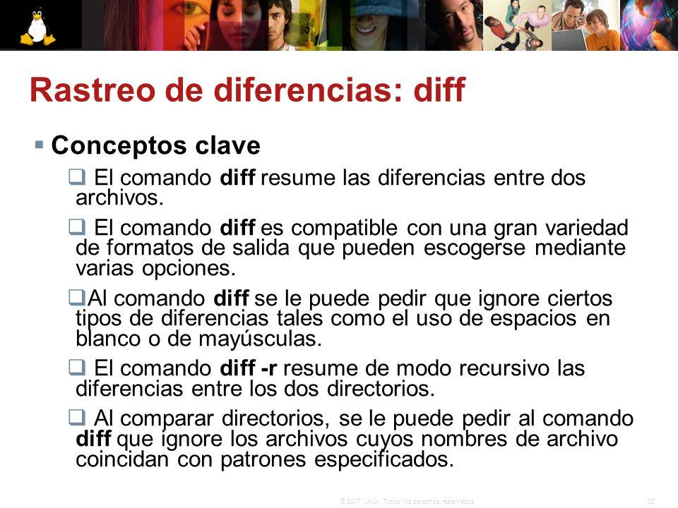 Rastreo de diferencias: diff
