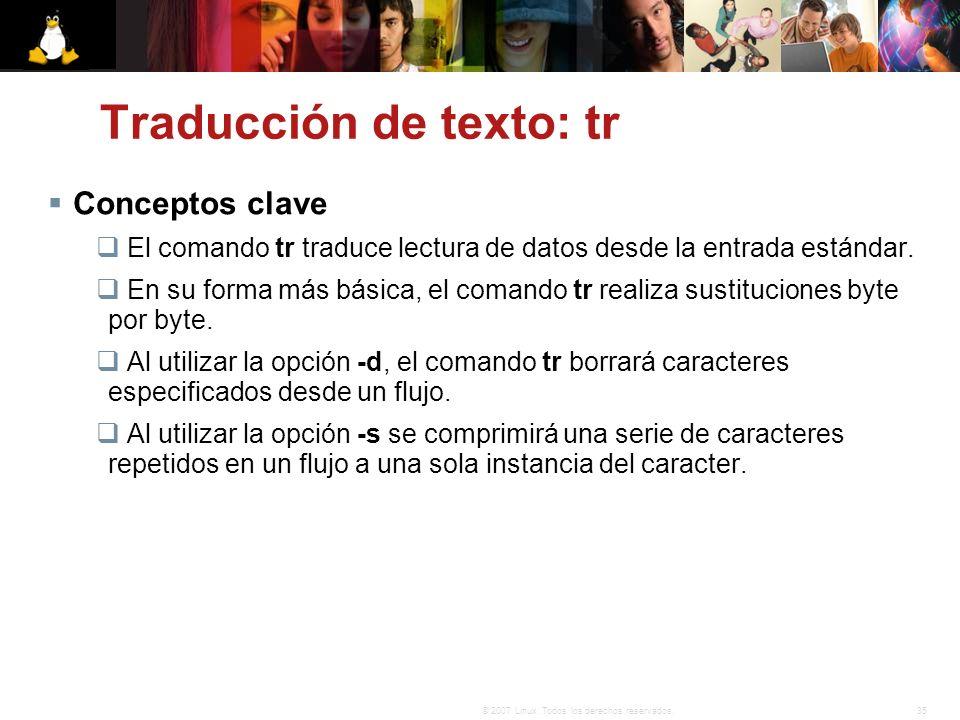 Traducción de texto: tr