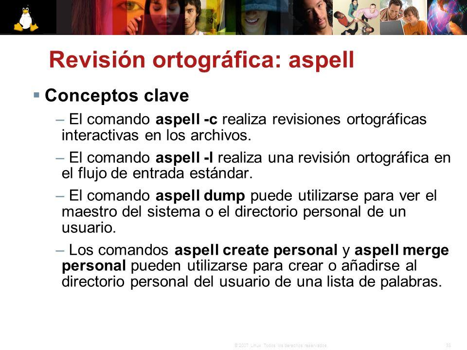Revisión ortográfica: aspell
