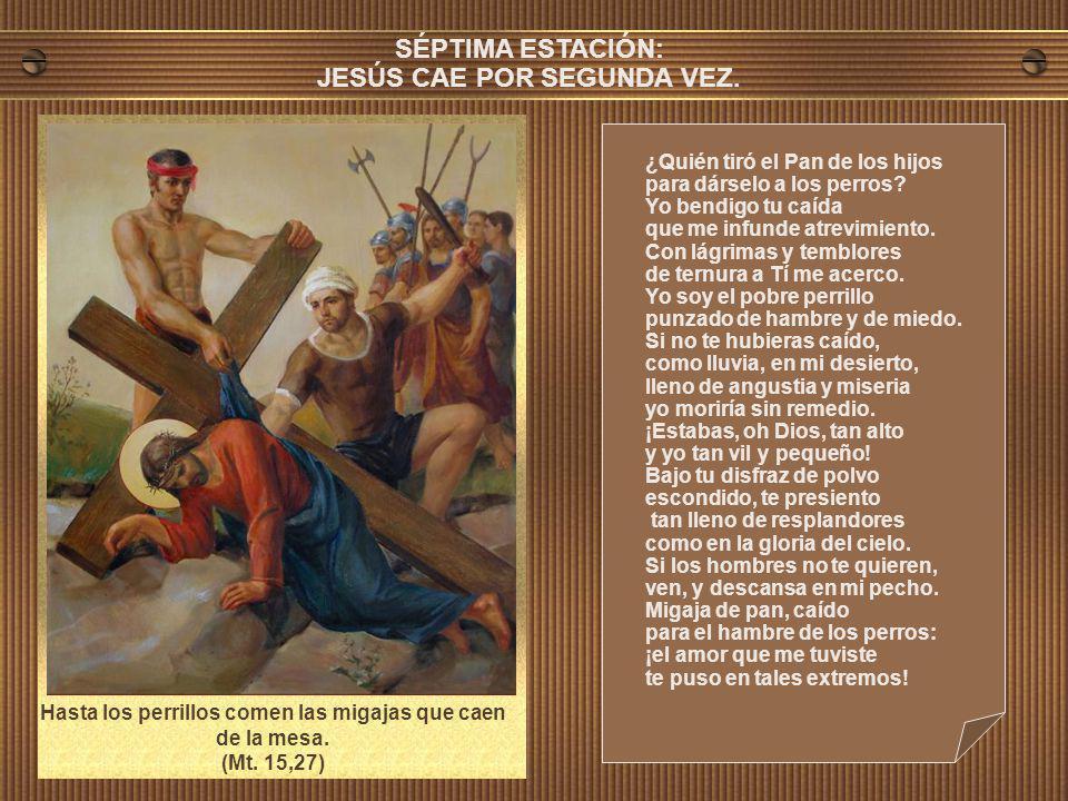 SÉPTIMA ESTACIÓN: JESÚS CAE POR SEGUNDA VEZ.