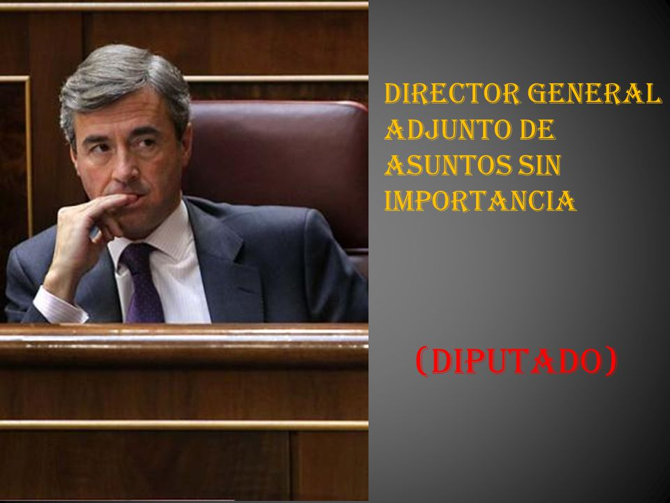 Director General Adjunto de Asuntos sin Importancia