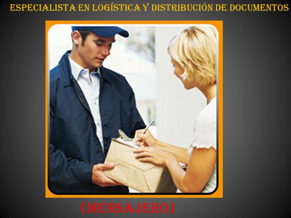 Especialista en Logística y distribución de Documentos