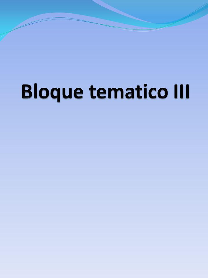 Bloque tematico III
