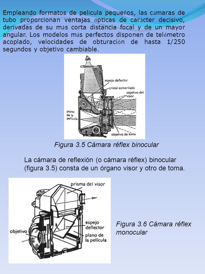 Figura 3.5 Cámara réflex binocular