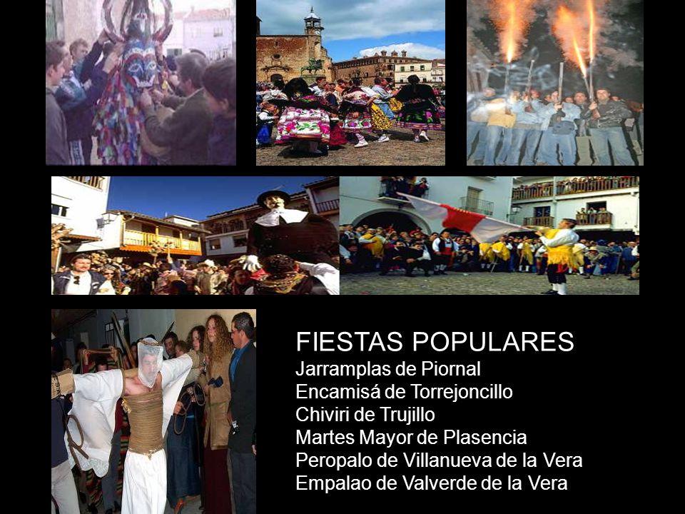 FIESTAS POPULARES Jarramplas de Piornal Encamisá de Torrejoncillo