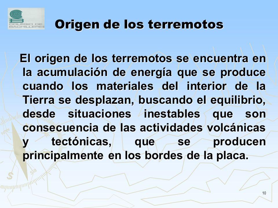 Origen de los terremotos