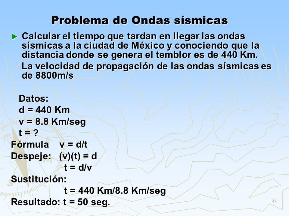Problema de Ondas sísmicas