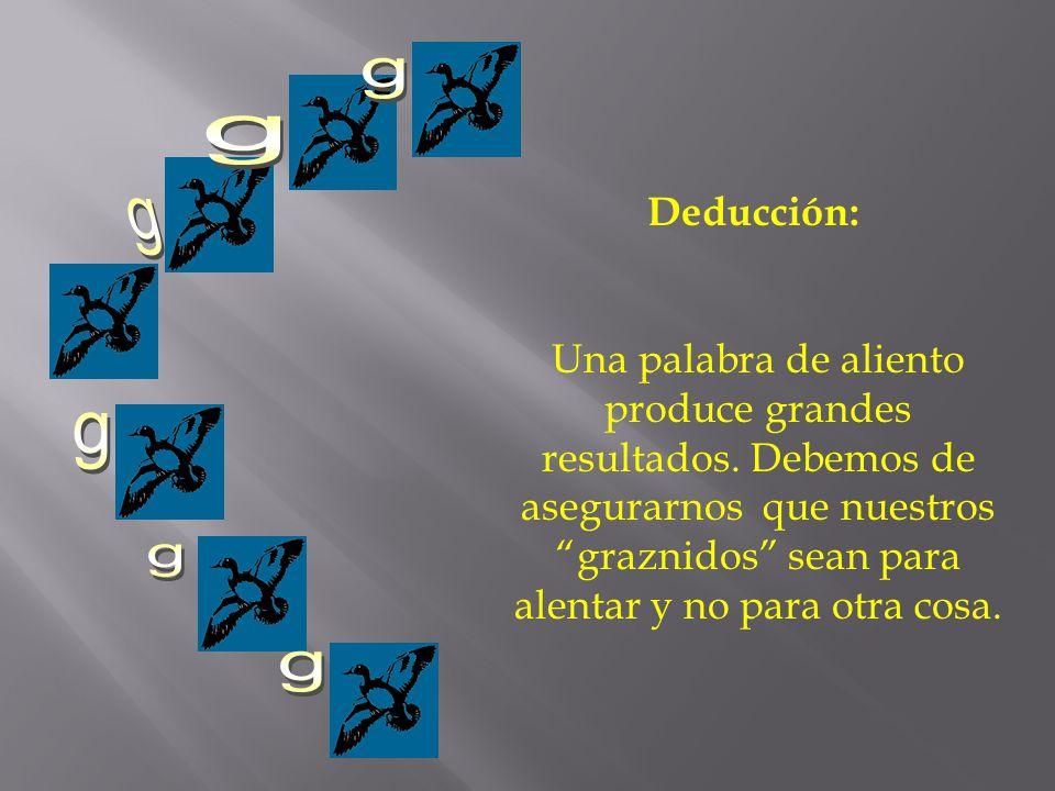 g g. Deducción: