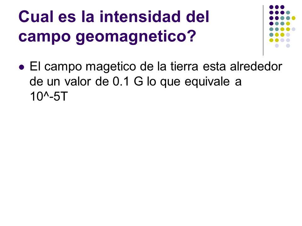 Cual es la intensidad del campo geomagnetico